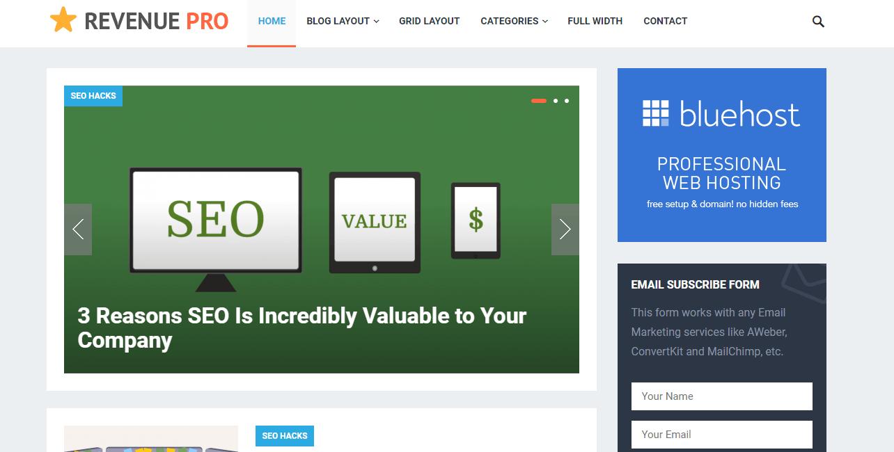revenue pro theme