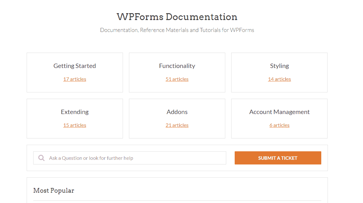 wpforms documentation archives