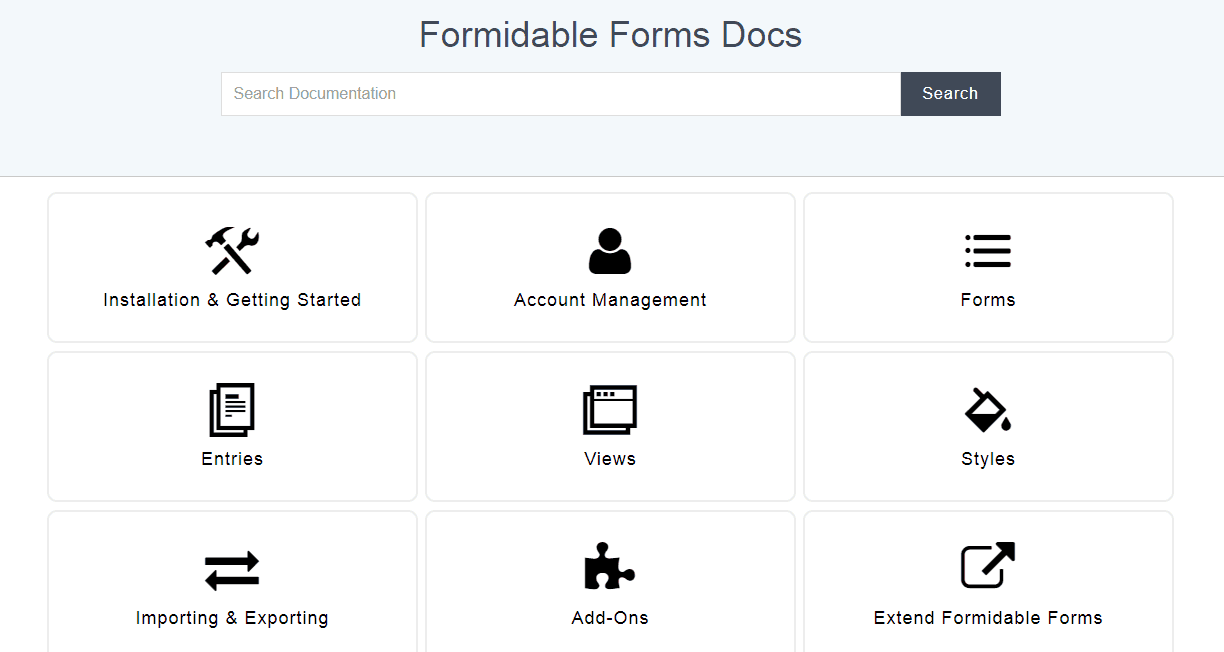 formmidable forms documentation