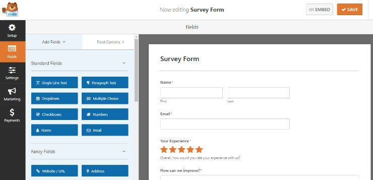 form building in wpforms