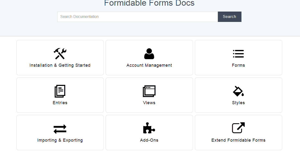 formidable forms documentation
