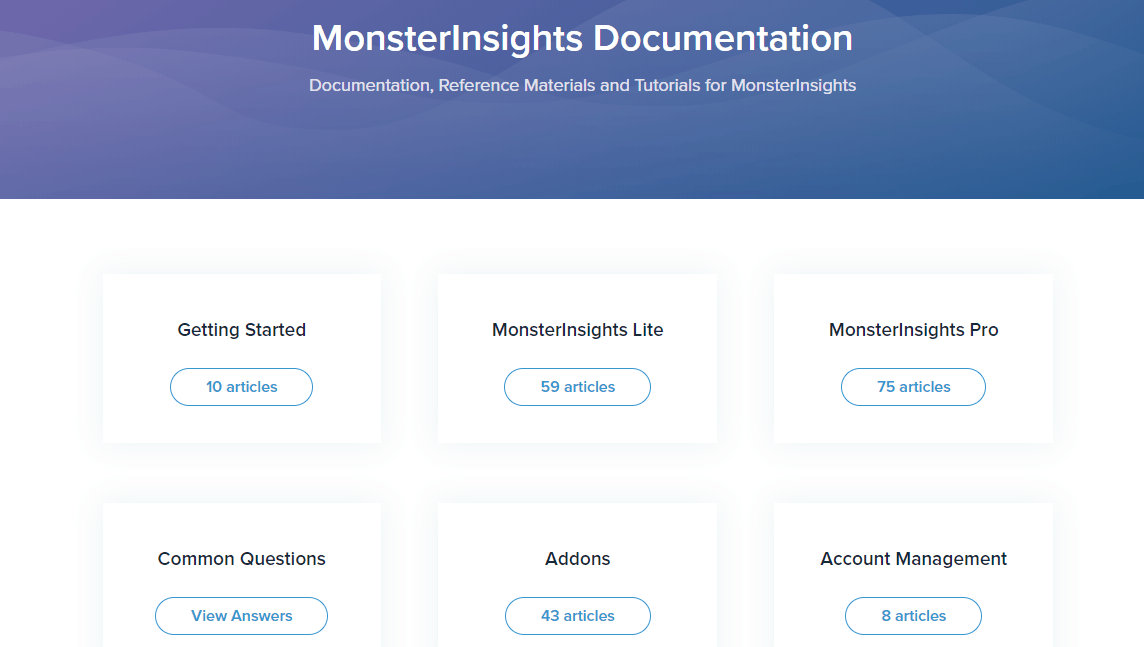monsterinsights docs