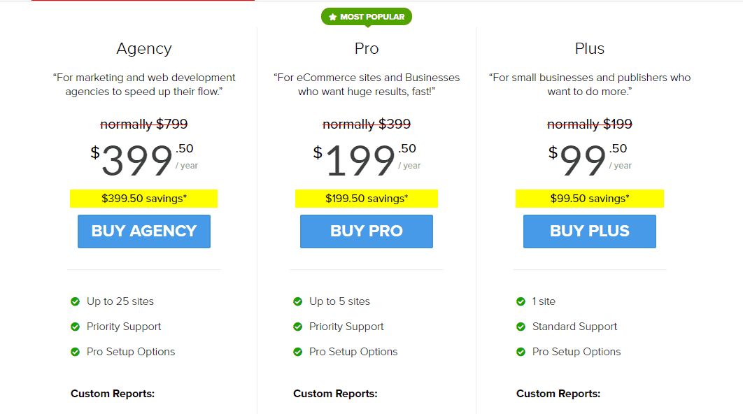 monsterinsights premium pricing