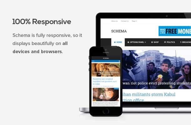 schema theme is responsive