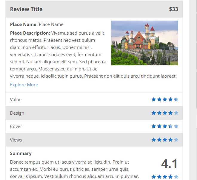 wp review plugin default template