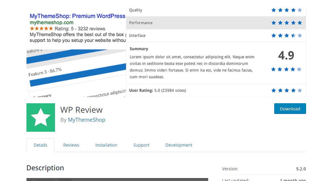 wp review lite plugin