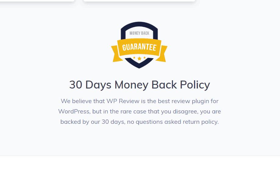money back guarantee in mythemeshop