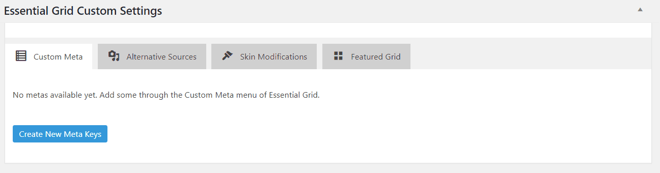 essential grid settings