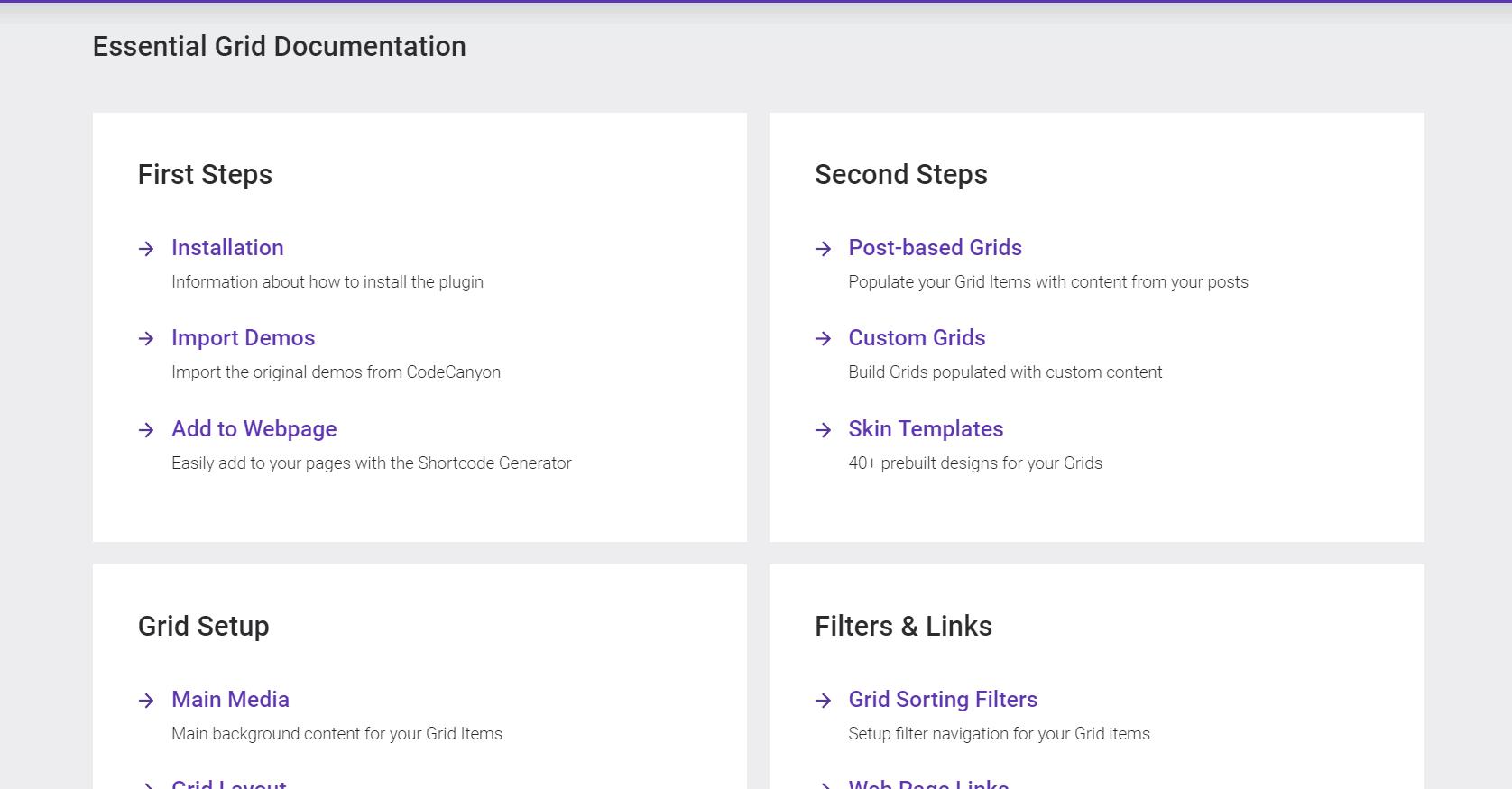 essential grid documentation
