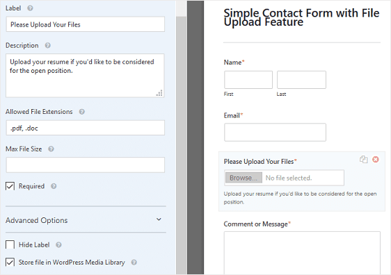 file upload forms