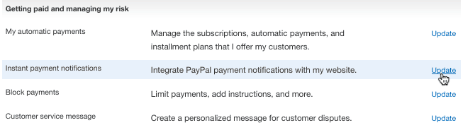 instant payment paypal