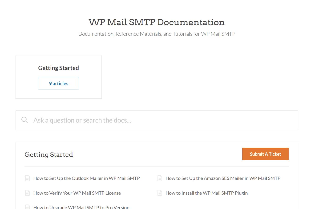 wp mail smtp plugin docs
