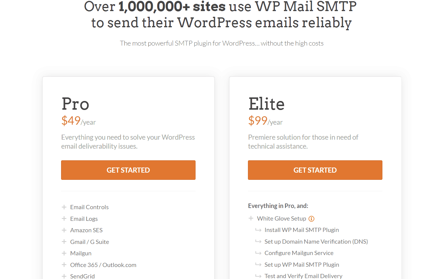 wp mail smtp plugin pricing