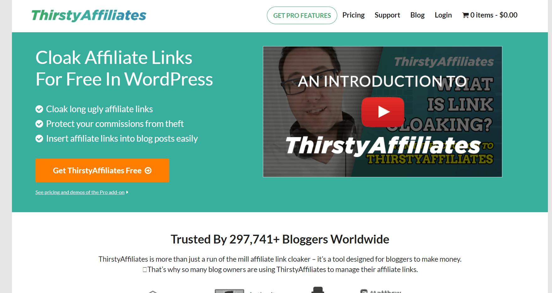 thirstyaffiliates plugin