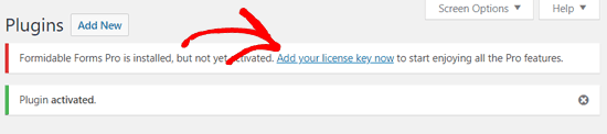 formidable license key
