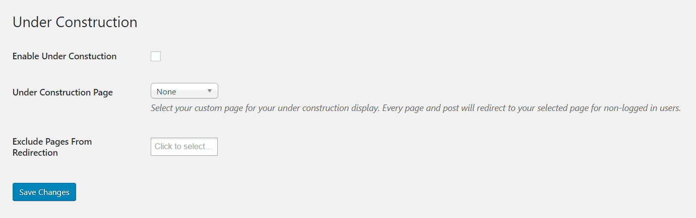 total wordpress theme maintenance mode