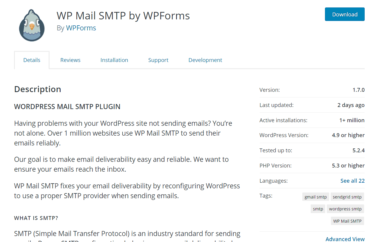 wp mail smtp lite