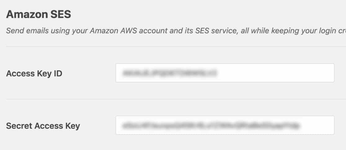 amazon ses access key
