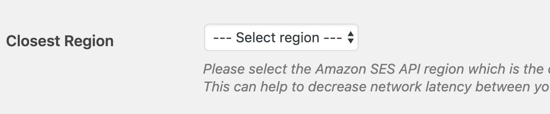 aws region