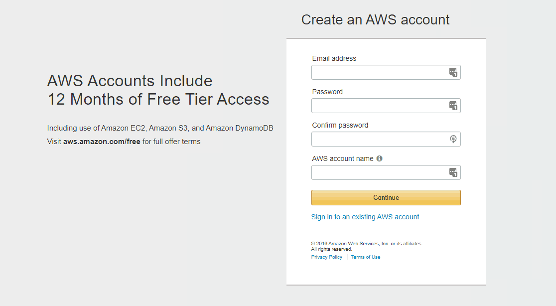 amazon aws account