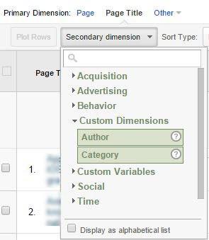 secondary dimension