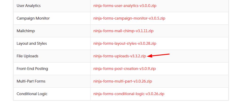 file uploads addon
