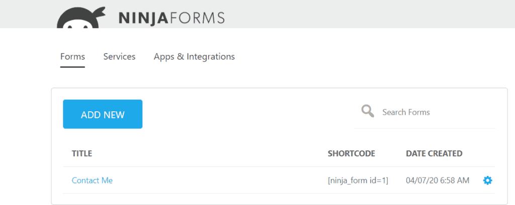 Ninja forms sample form
