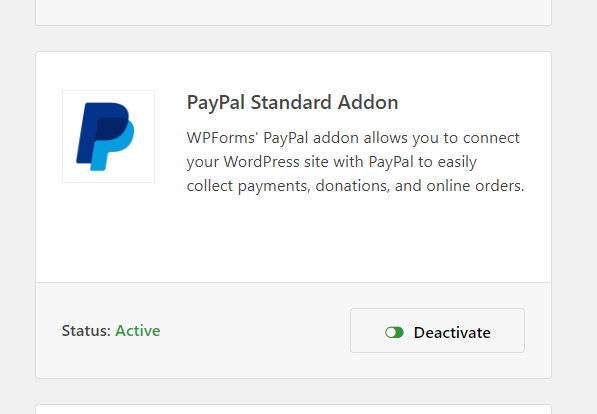 paypal activated