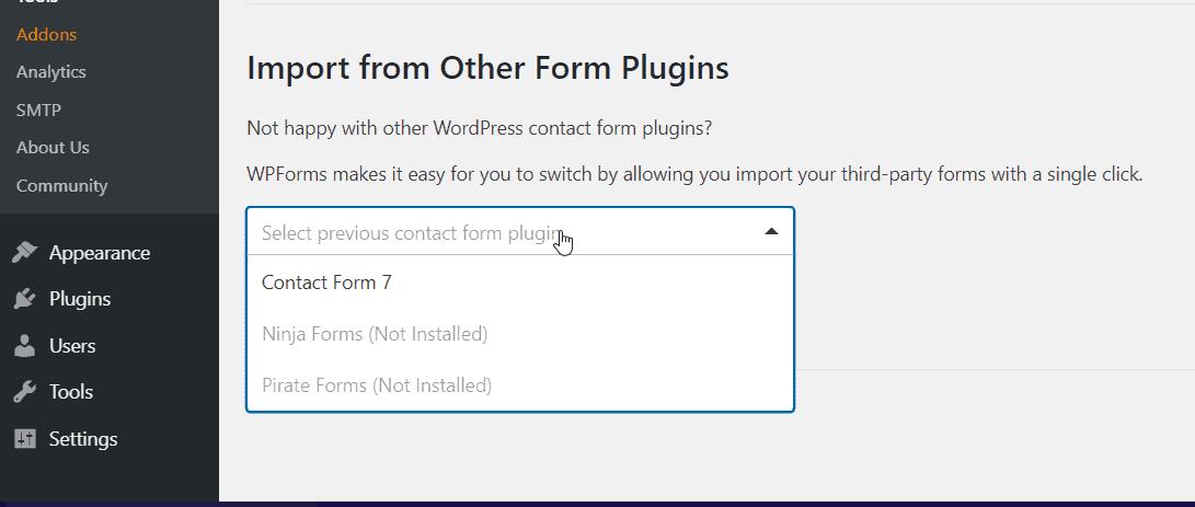 wpforms import plugins