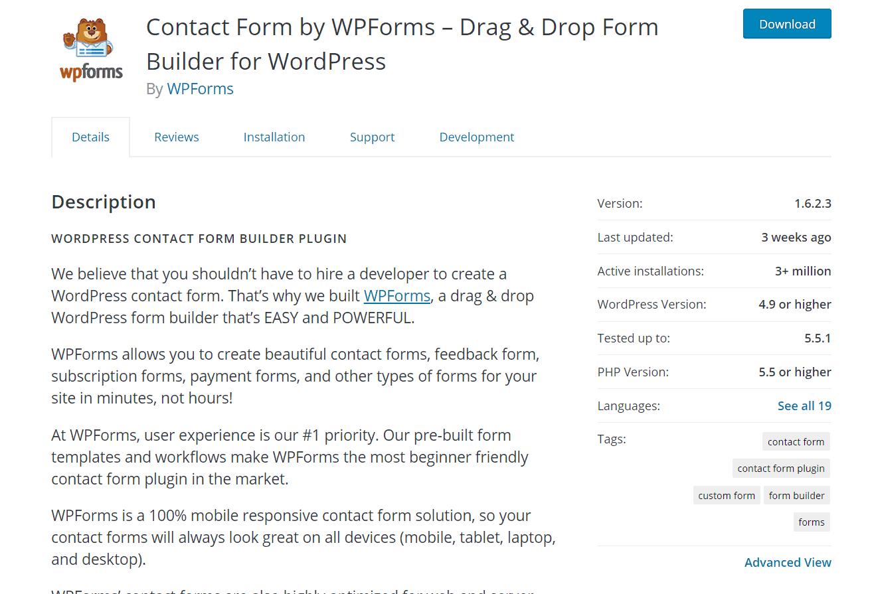 wpforms free plugin